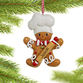 Personalized Sweet Gingerbread Boy Christmas Ornament