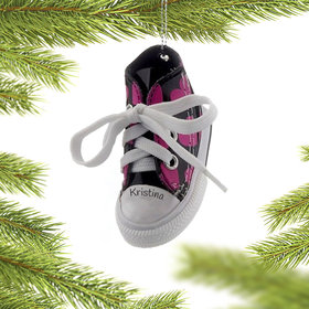 Personalized Heart Sneaker Christmas Ornament