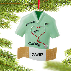 Personalized Nurse Bandaid Christmas Ornament