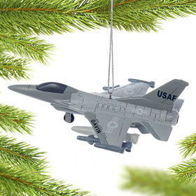 Personalized Air Force Jet Christmas Ornament