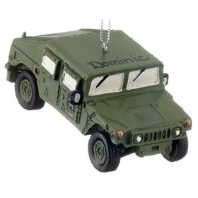 Personalized Army Humvee Christmas Ornament