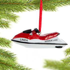 Personalized Watercraft Christmas Ornament