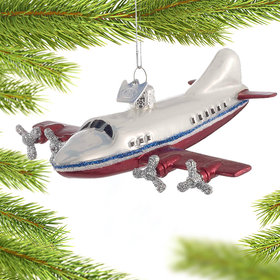 Personalized Vacation Airplane Christmas Ornament