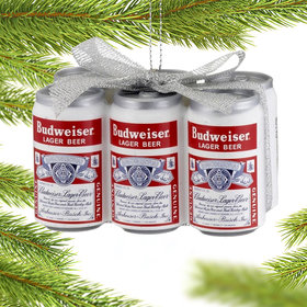 Personalized Budweiser Vintage Six-Pack Christmas Ornament