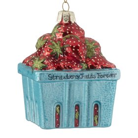 Personalized Pint of Strawberries Christmas Ornament