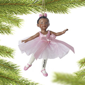 Personalized Little Ballerina Christmas Ornament