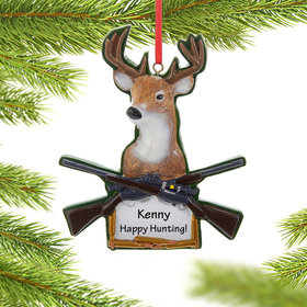 Personalized Deer Hunting Rifles Christmas Ornament