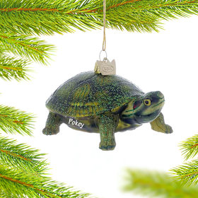 Personalized Land Turtle Christmas Ornament