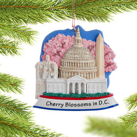 Personalized Washington D.C. Scene Christmas Ornament