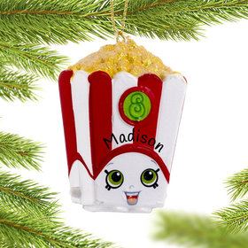 Personalized Shopkins Poppy Corn Christmas Ornament