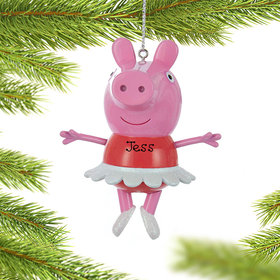 Personalized Peppa Pig Ballerina Christmas Ornament