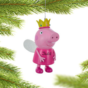 Personalized Peppa Pig Fairy Princess Christmas Ornament