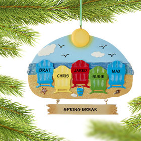 Personalized Adirondack Beach Chairs 5 Christmas Ornament