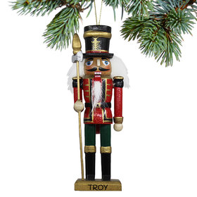 Personalized Wooden Nutcracker Guard Christmas Ornament