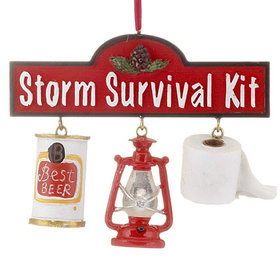 Storm Survival Kit Christmas Ornament