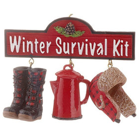 Winter Survival Kit Christmas Ornament