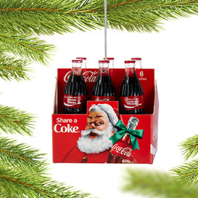 Personalized Coca-Cola Six Pack of Bottles Christmas Ornament