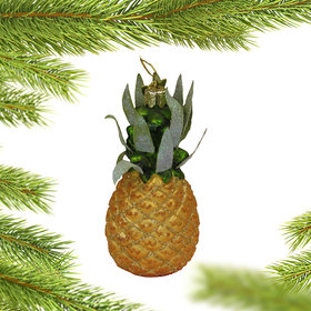 Personalized Tropical Pineapple Christmas Ornament