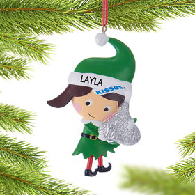 Personalized Hershey Candy Elf (Kisses) Christmas Ornament
