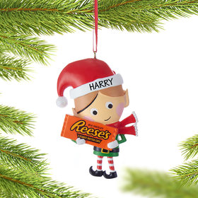 Personalized Hershey Candy Elf (Reese's) Christmas Ornament