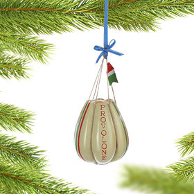 Personalized Provolone Deli Cheese Christmas Ornament