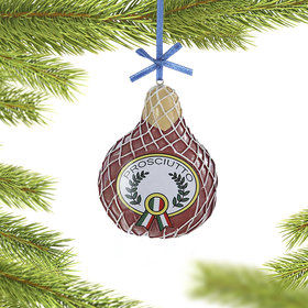 Personalized Prosciutto Deli Meat Christmas Ornament