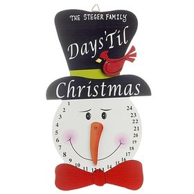 Personalized Days 'Til Christmas Snowman Wall Plaque Christmas Ornament