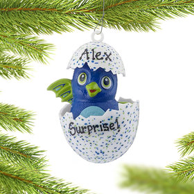 Personalized Hatchimals (Blue) Christmas Ornament