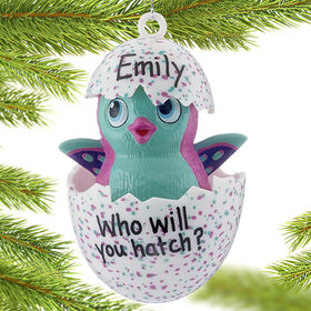 Personalized Hatchimals (Turquoise Blue) Christmas Ornament