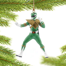 Personalized Power Rangers (Green) Christmas Ornament