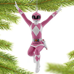 Personalized Power Rangers (Pink) Christmas Ornament