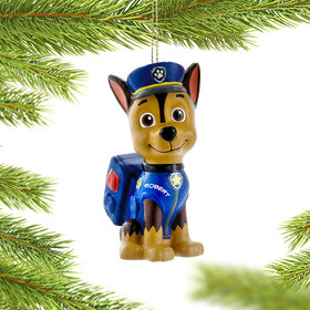 Personalized Paw Patrol Character (Chase) Christmas Ornament