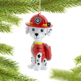 Personalized Paw Patrol Character (Marshall) Christmas Ornament