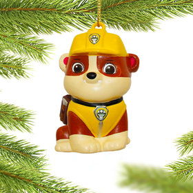 Personalized Paw Patrol Character (Rubble) Christmas Ornament