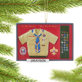 Personalized Eagle Scout Shadow Box Christmas Ornament
