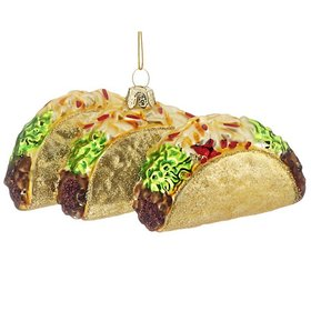 Personalized Three Tacos Christmas Ornament