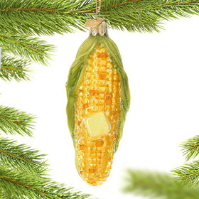 Personalized Corn on the Cob Christmas Ornament