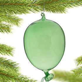 Party Balloon (Green) Christmas Ornament