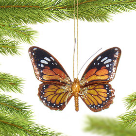Personalized Monarch Butterfly Christmas Ornament