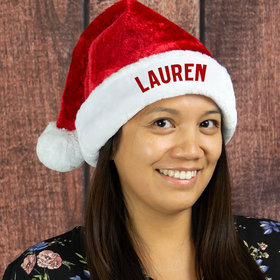 Personalized Santa Hat (Adult Size) Christmas