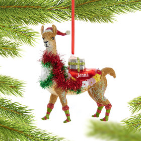 Personalized Llama Christmas Ornament