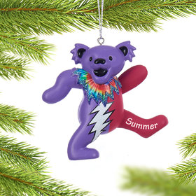 Personalized Grateful Dead Dancing Bear (Pink and Purple) Christmas Ornament