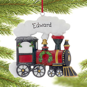 Personalized Christmas Train Christmas Ornament