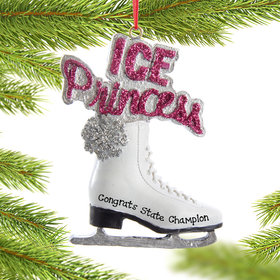 "Personalized ""Ice Princess"" Shoe Christmas Ornament"