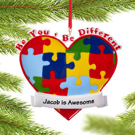 Personalized Autism Awareness Christmas Ornament