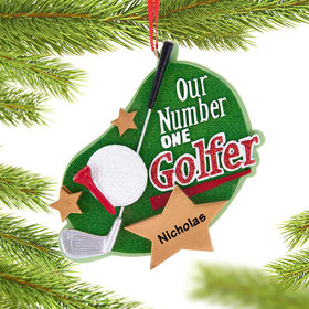 Personalized Golfer Christmas Ornament