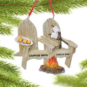 Personalized Adirondack Chair with S'more Christmas Ornament