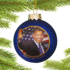 Personalized Obama Glass Ball Christmas Ornament
