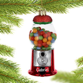 Personalized Gumball Machine Christmas Ornament