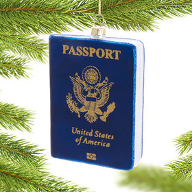 Personalized Passport Christmas Ornament